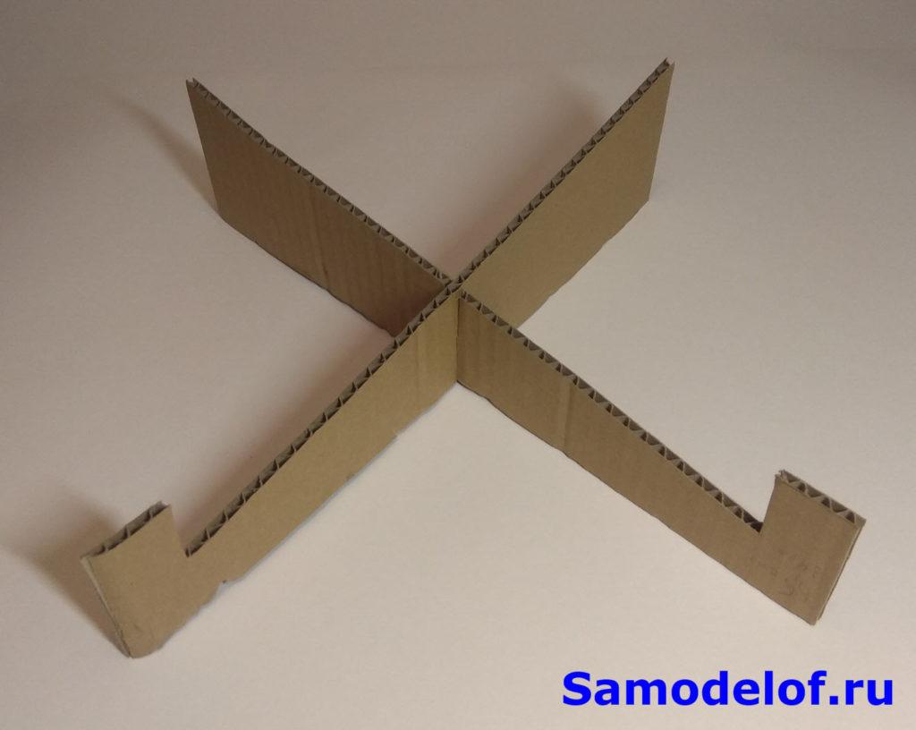 Подставка под ноутбук из картона