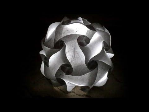 Светящийся шар из бумаги