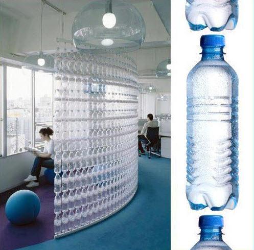 Перегородка из пластиковых бутылок