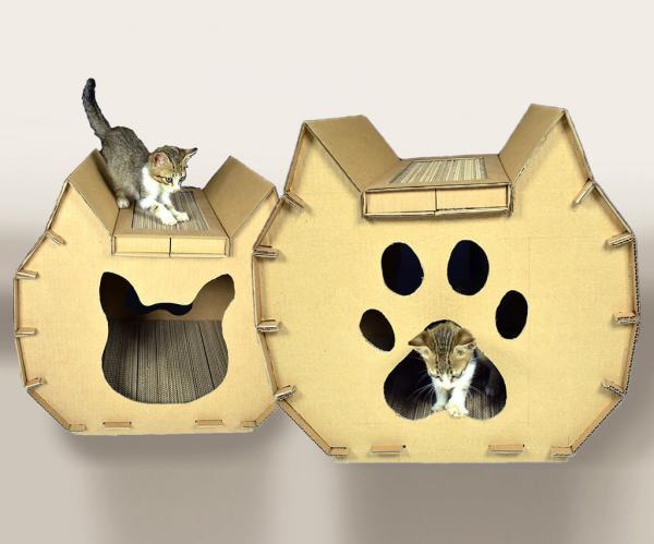 Картонный домик для кошки
