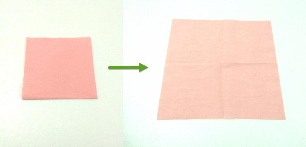 Роза из бумажной салфетки