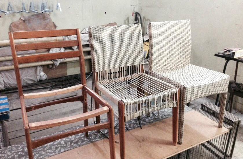 Плетёная мебель своими руками